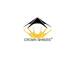 CROWN SHADES Patented 11ft Blue Slant Leg One Push Up Clia Instant Folding Canopy with Wheeled Bag x 11ft